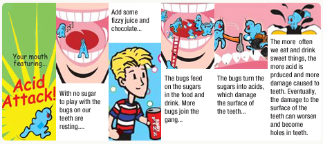 Tooth decay cartoon